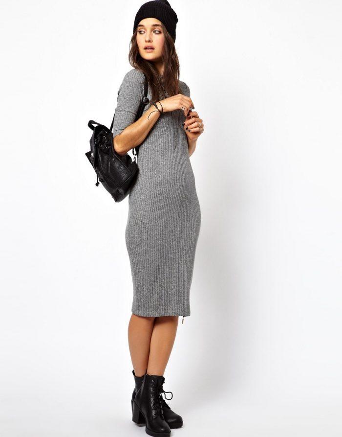 Какую обувь одеть с трикотажным платьем