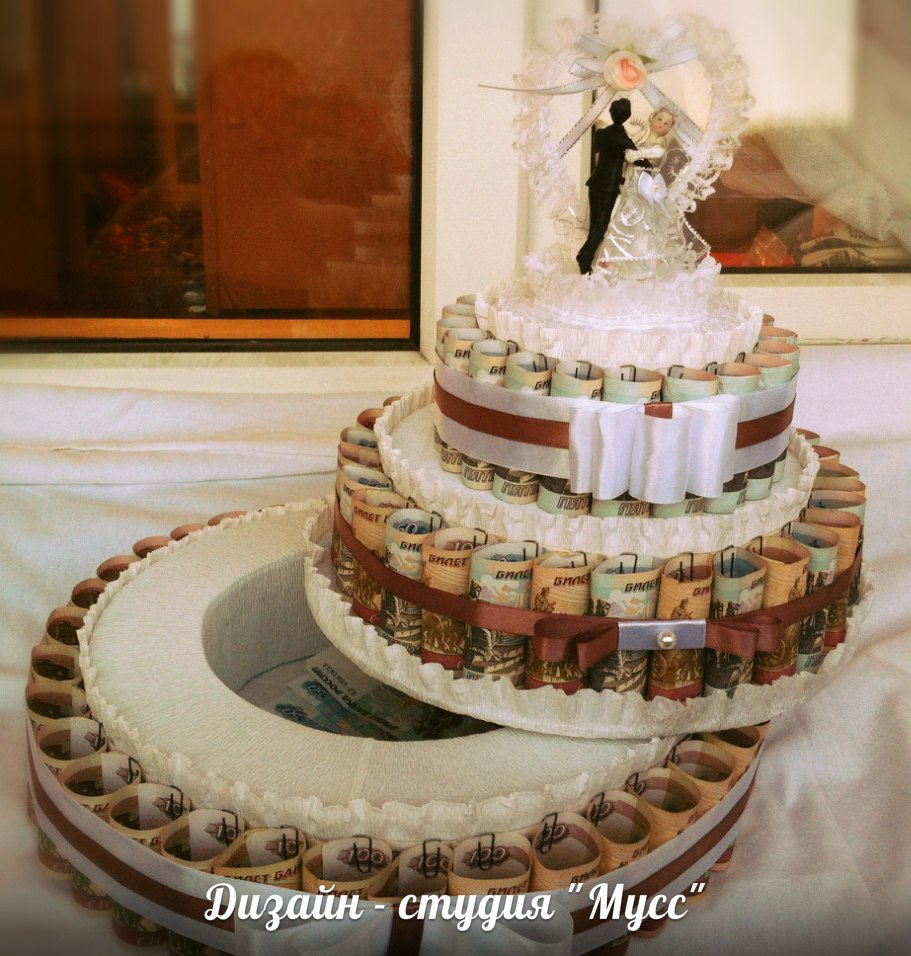 Торт на свадьбу своими руками из денег фото своими руками