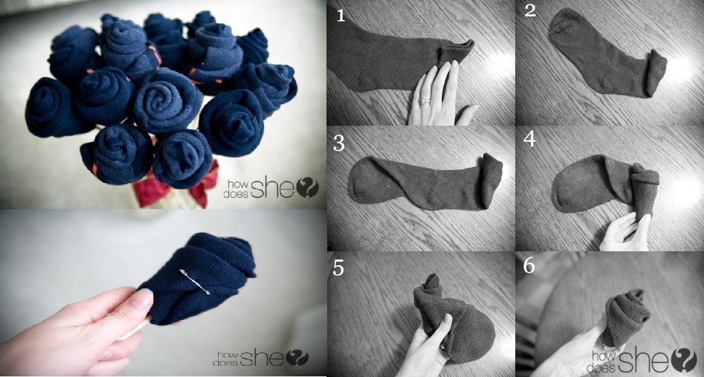 Букеты из носков как сделать