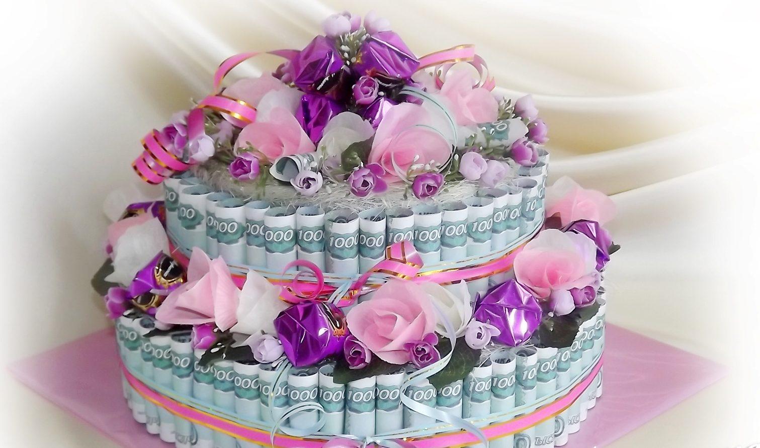 Поздравления к торту из денег 6