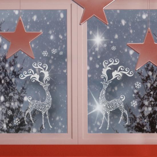 Украшения на окна на новый год своими руками фото