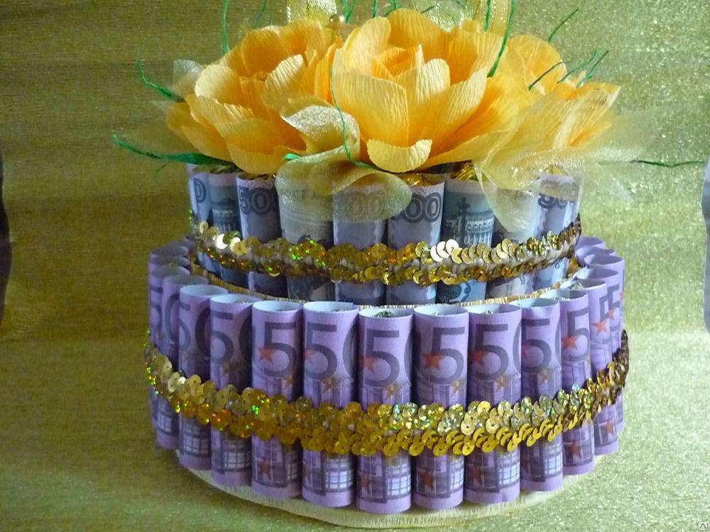Поздравления к торту из денег 25