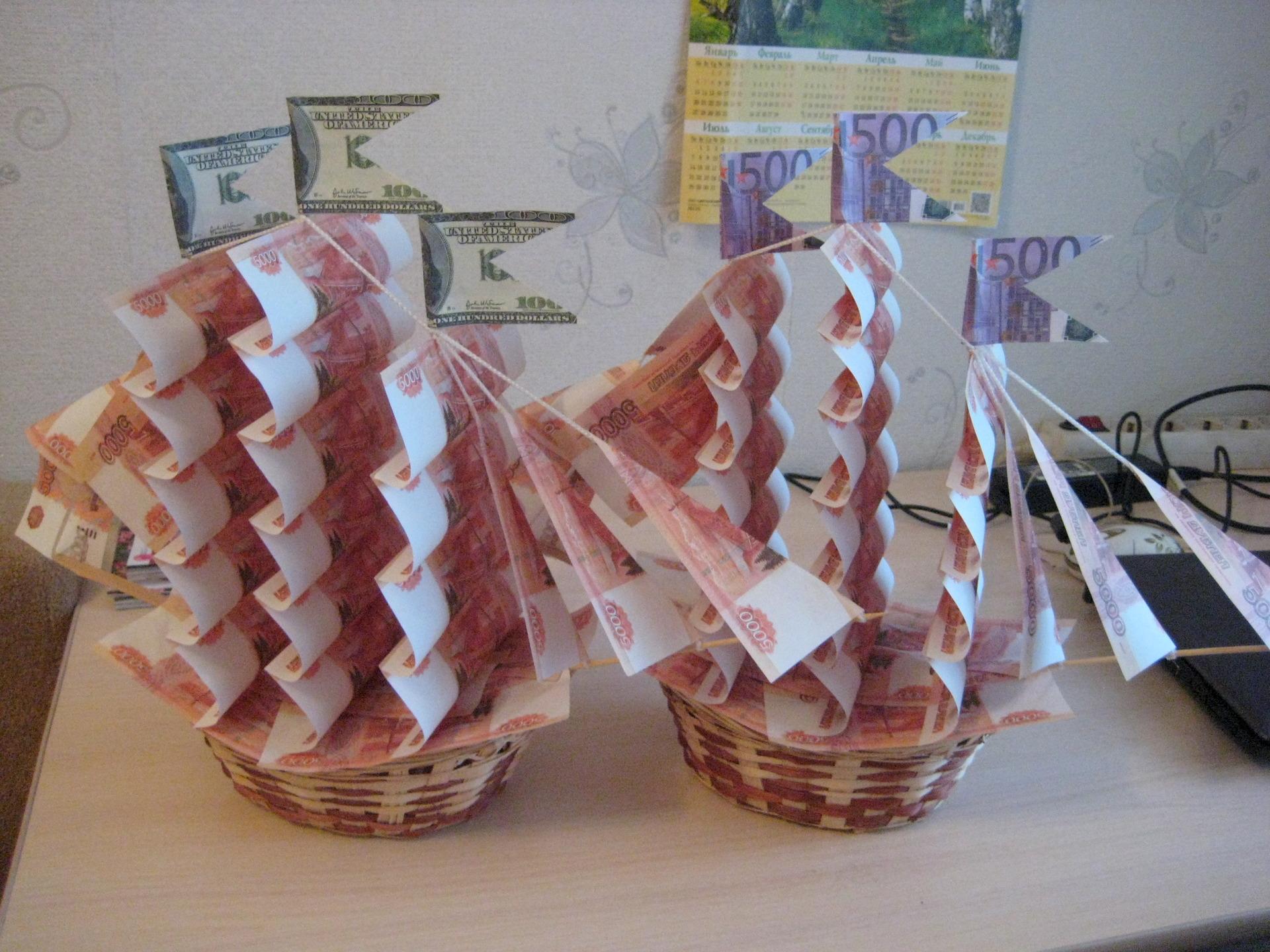 Поделки из денежных купюр на день рождения 188