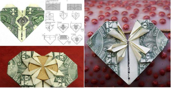 Как свернуть деньги для подарка