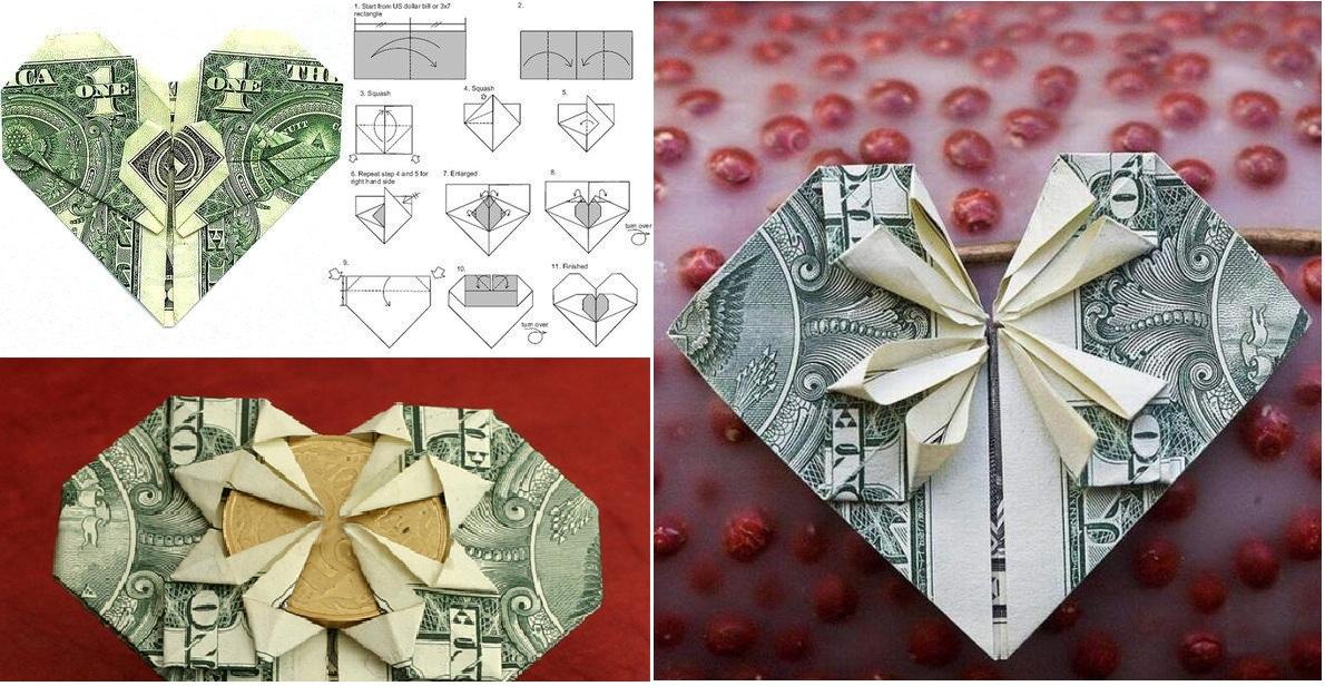 Красиво свернуть деньги для подарка