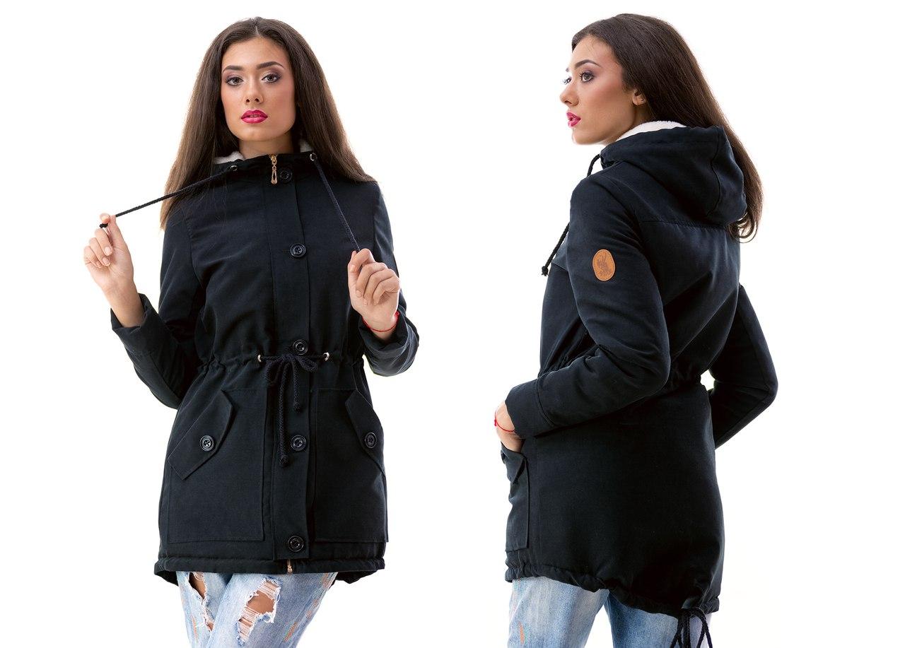 куртки чёрные женские фото