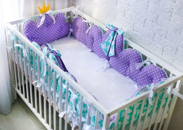 Бампер на кроватку для новорожденных своими руками 96