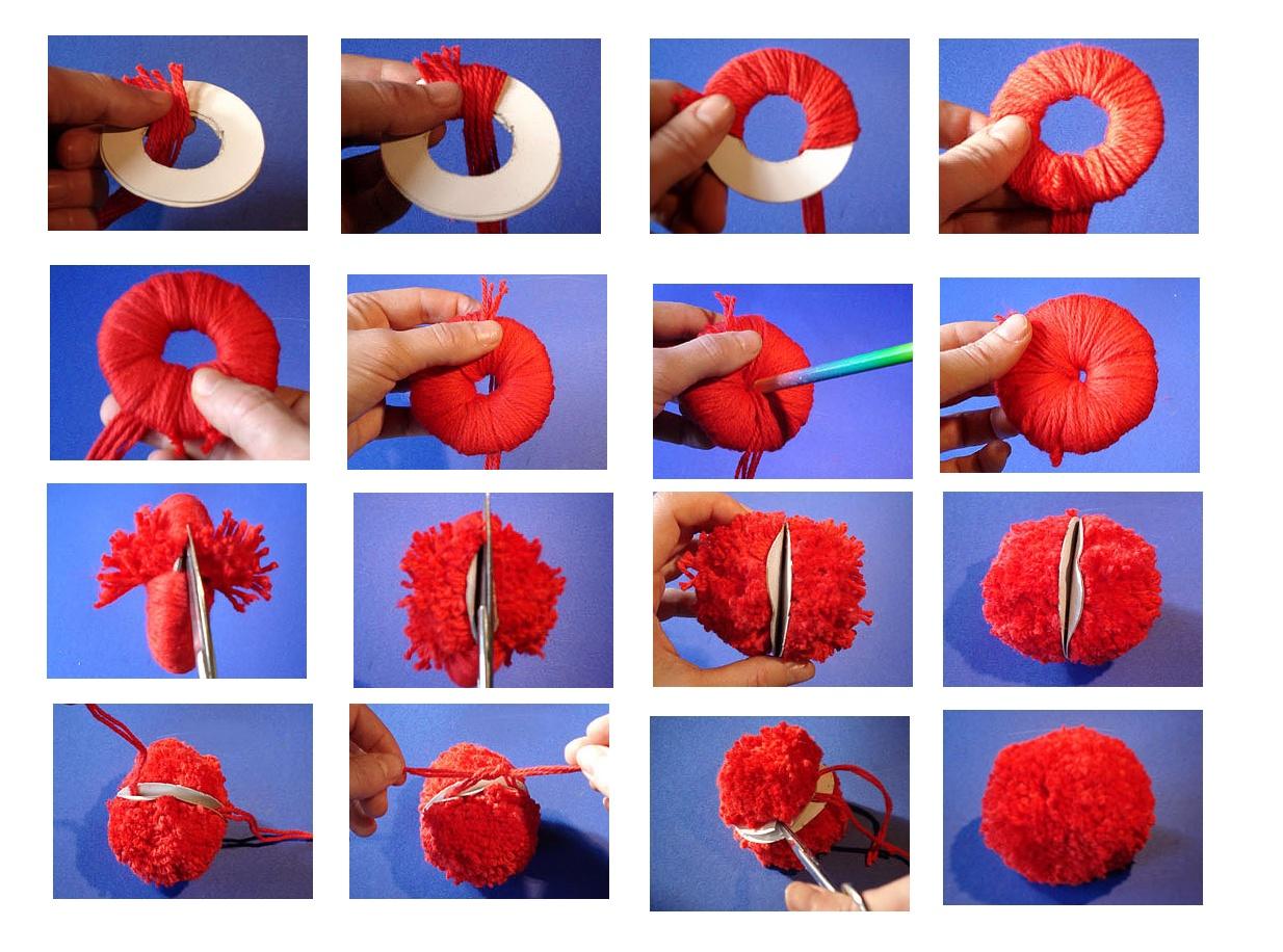 Как сделать помпон из ниток своими руками поэтапно
