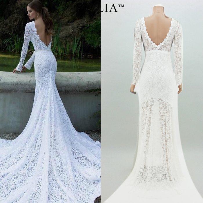 Платья свадебные в обтяжку