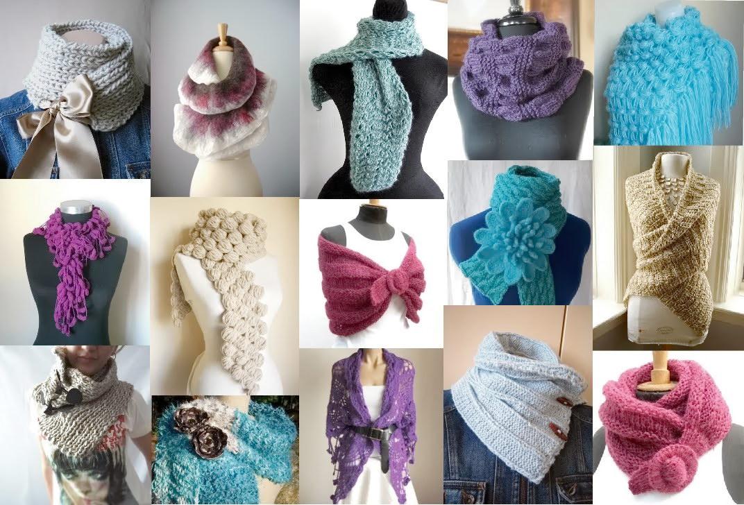 Дизайнерский шарф своими руками 34