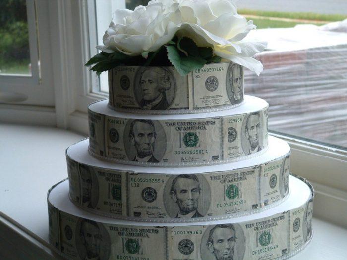 Сделать торт из денег своими руками видео