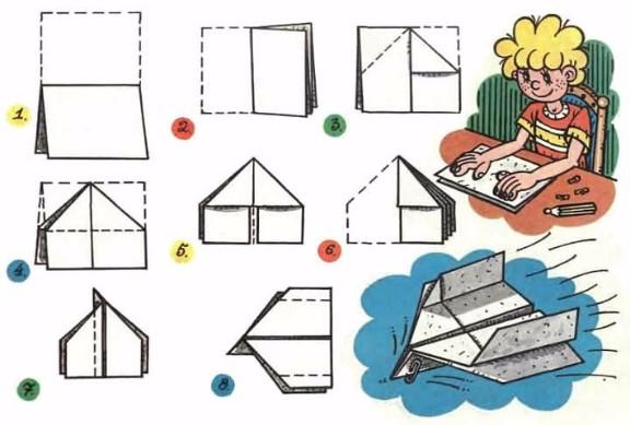 Как сделать бумажные самолетики детям