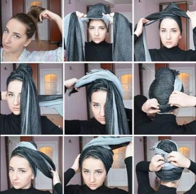Как сделать шарф тюрбан 78