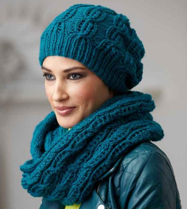 Вязать шапку женскую спицами