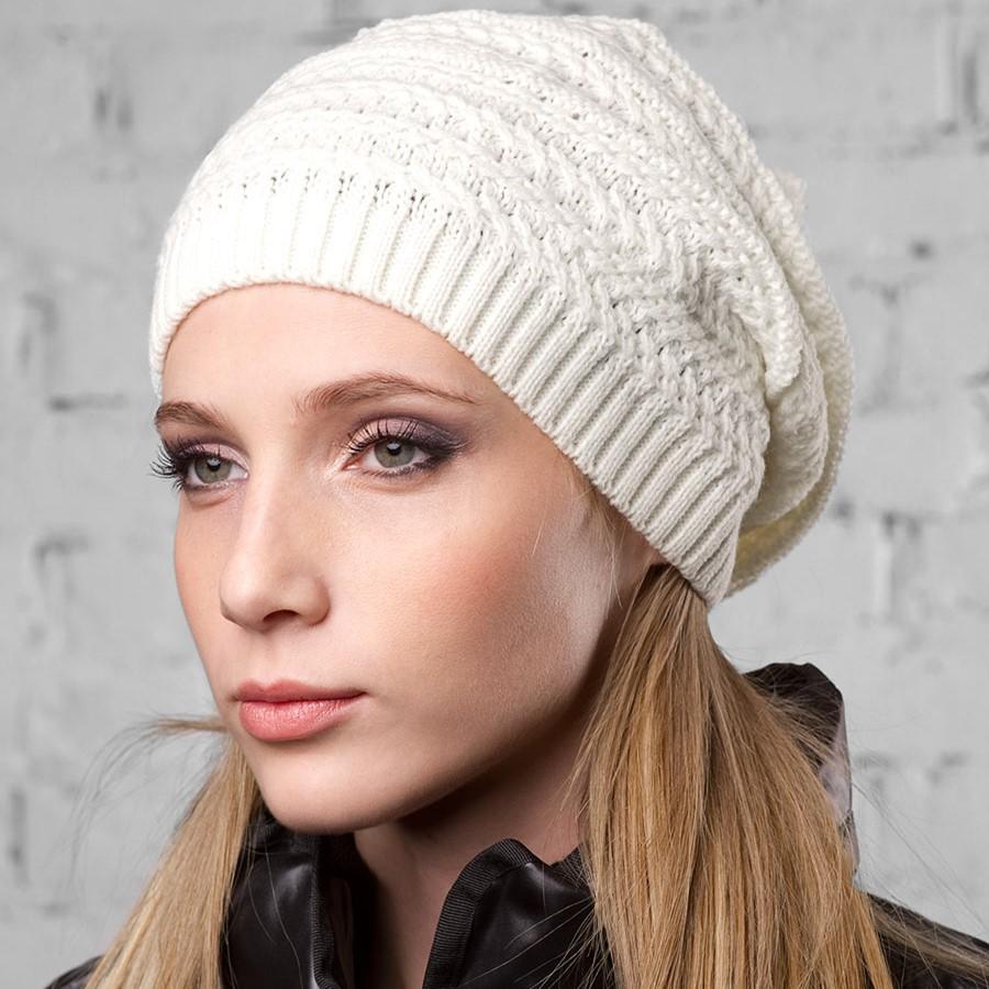 вязаные женские шапки спицами схемы