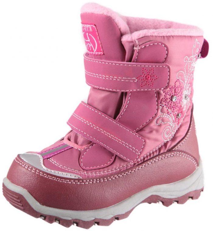 Мембранная зимняя обувь для детей 19