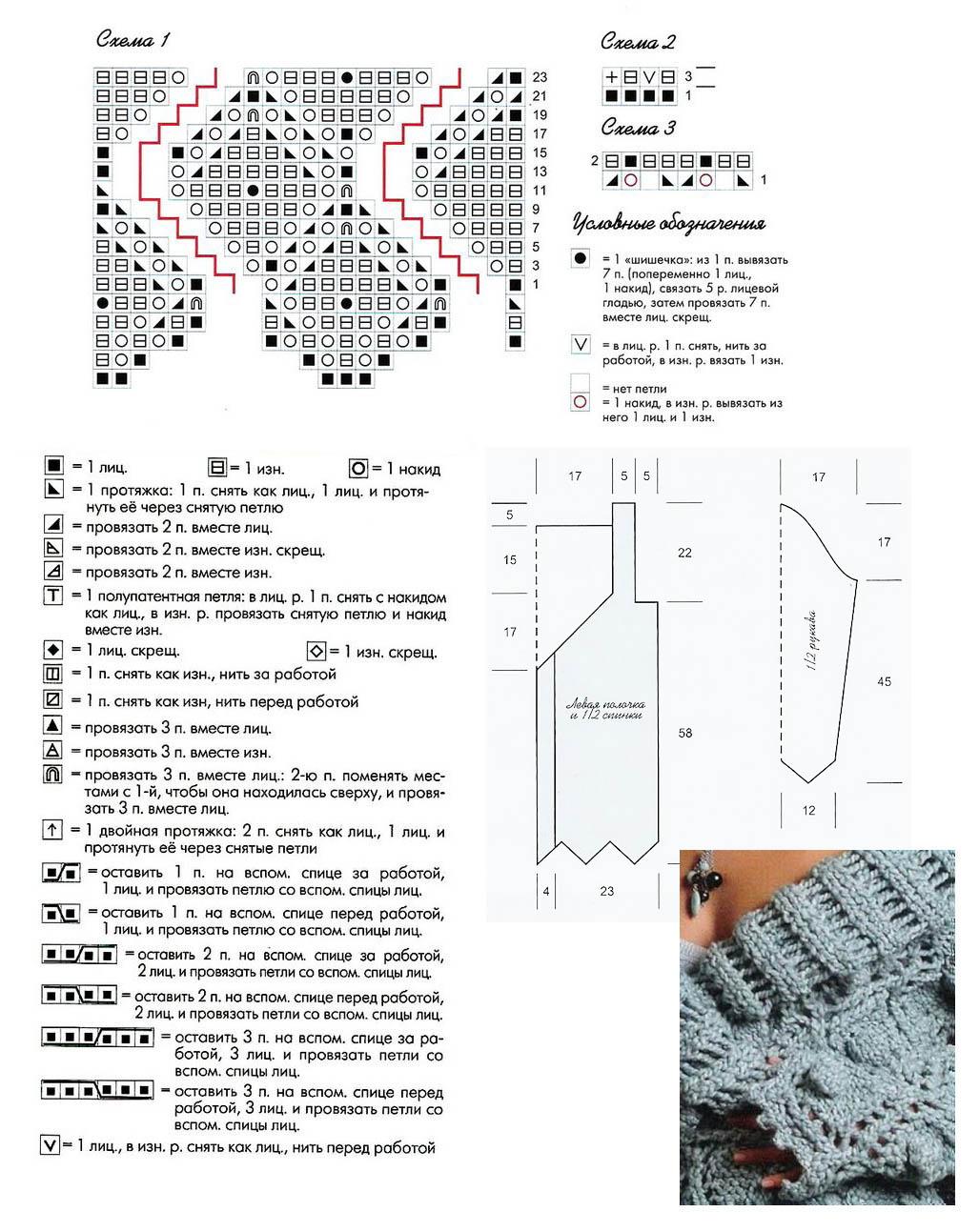 Бохо спицами схемы и описание