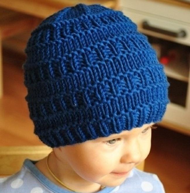 Вязание спицами шапка для мальчика 4 лет 23