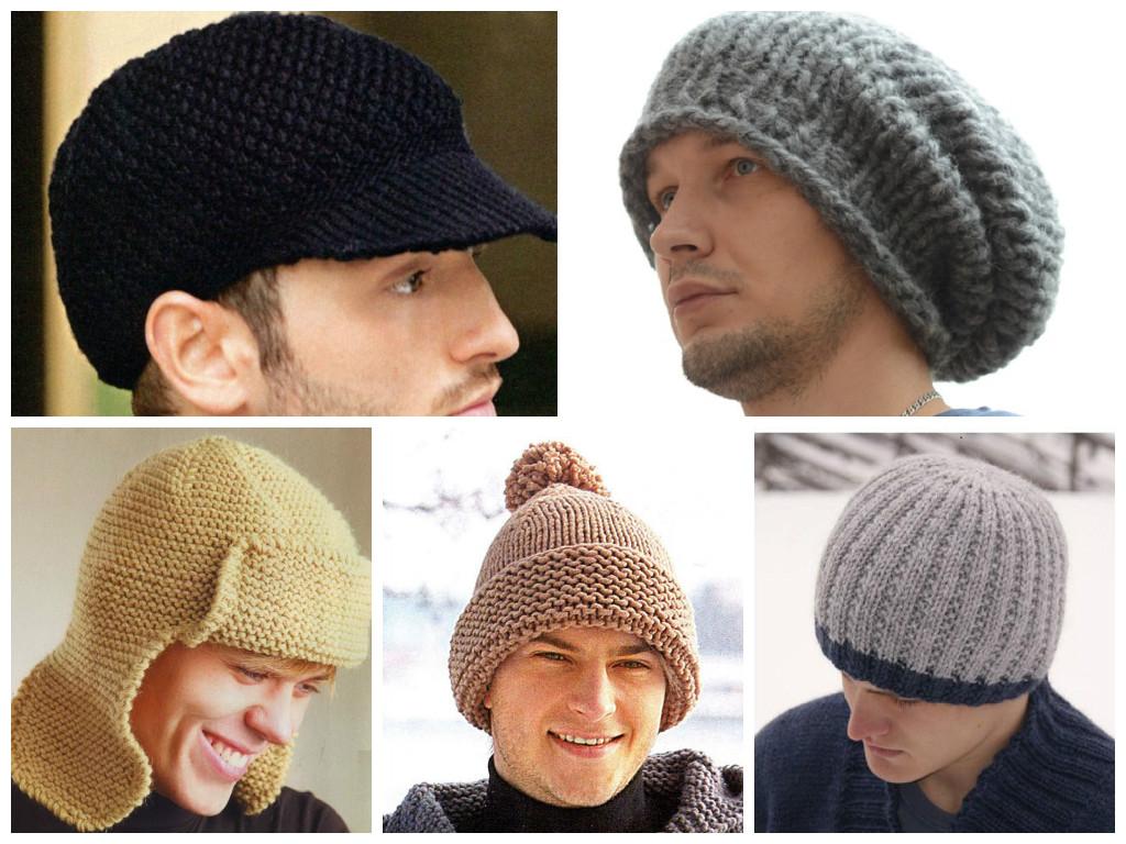 шапка мужская бини спицами схема вязания