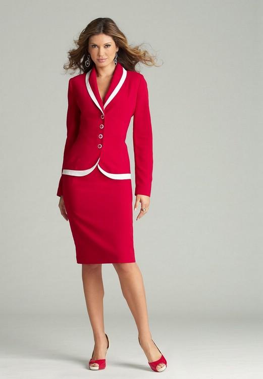 Деловые платья красного цвета