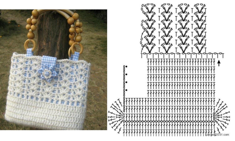 Летние сумки крючком схемы фото