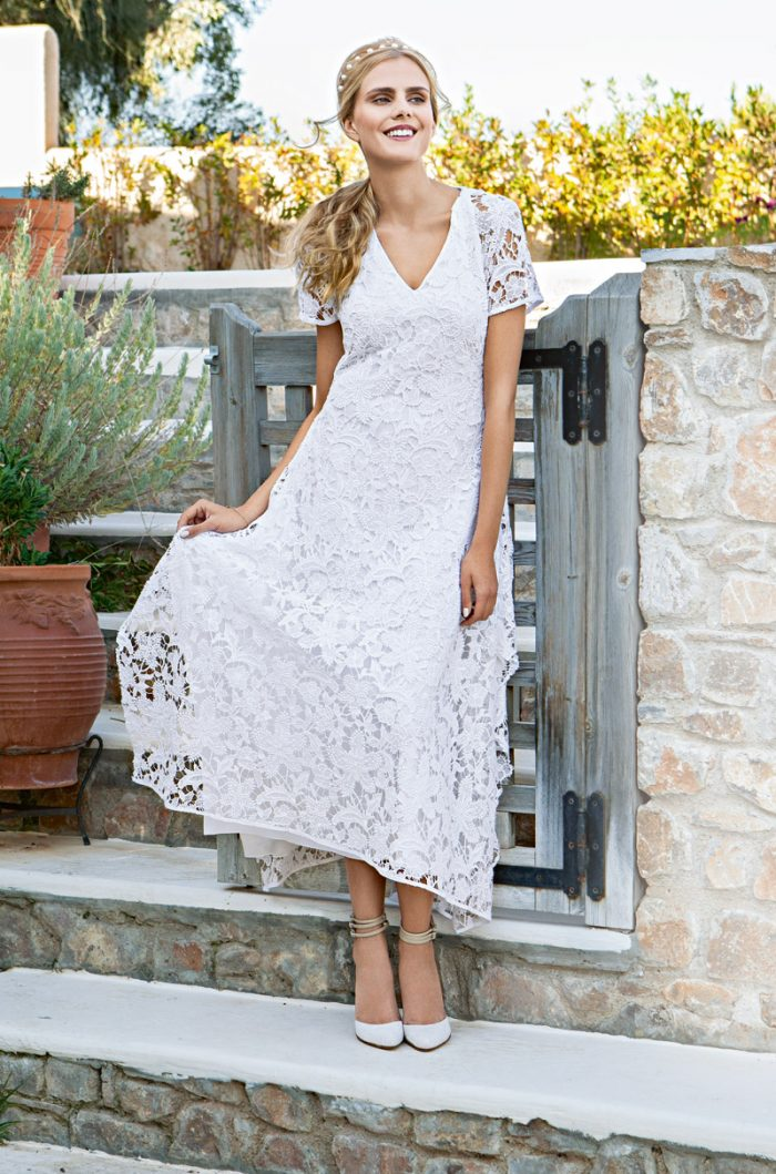 Белое летнее платье своими руками 5