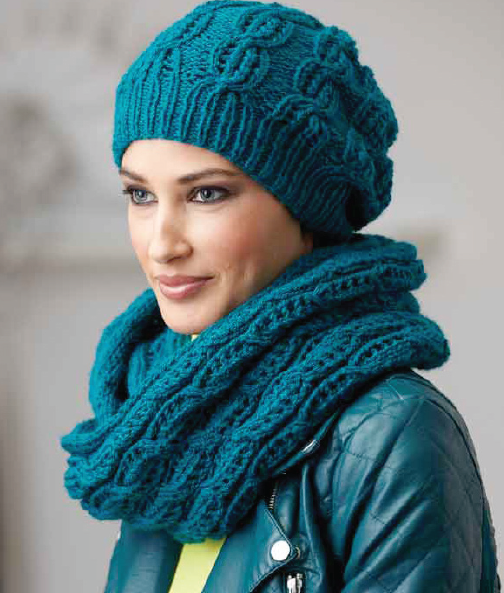 Вяжем спицами шарфы и шапки видео