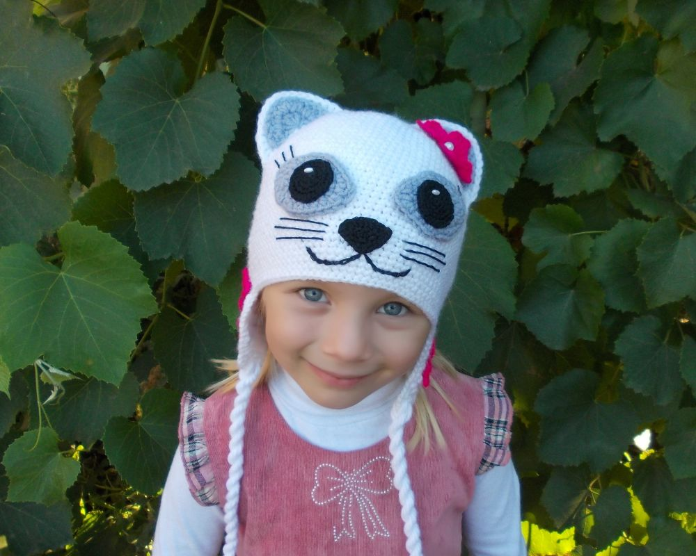 шапки для девочек весна 2014 спицами схема
