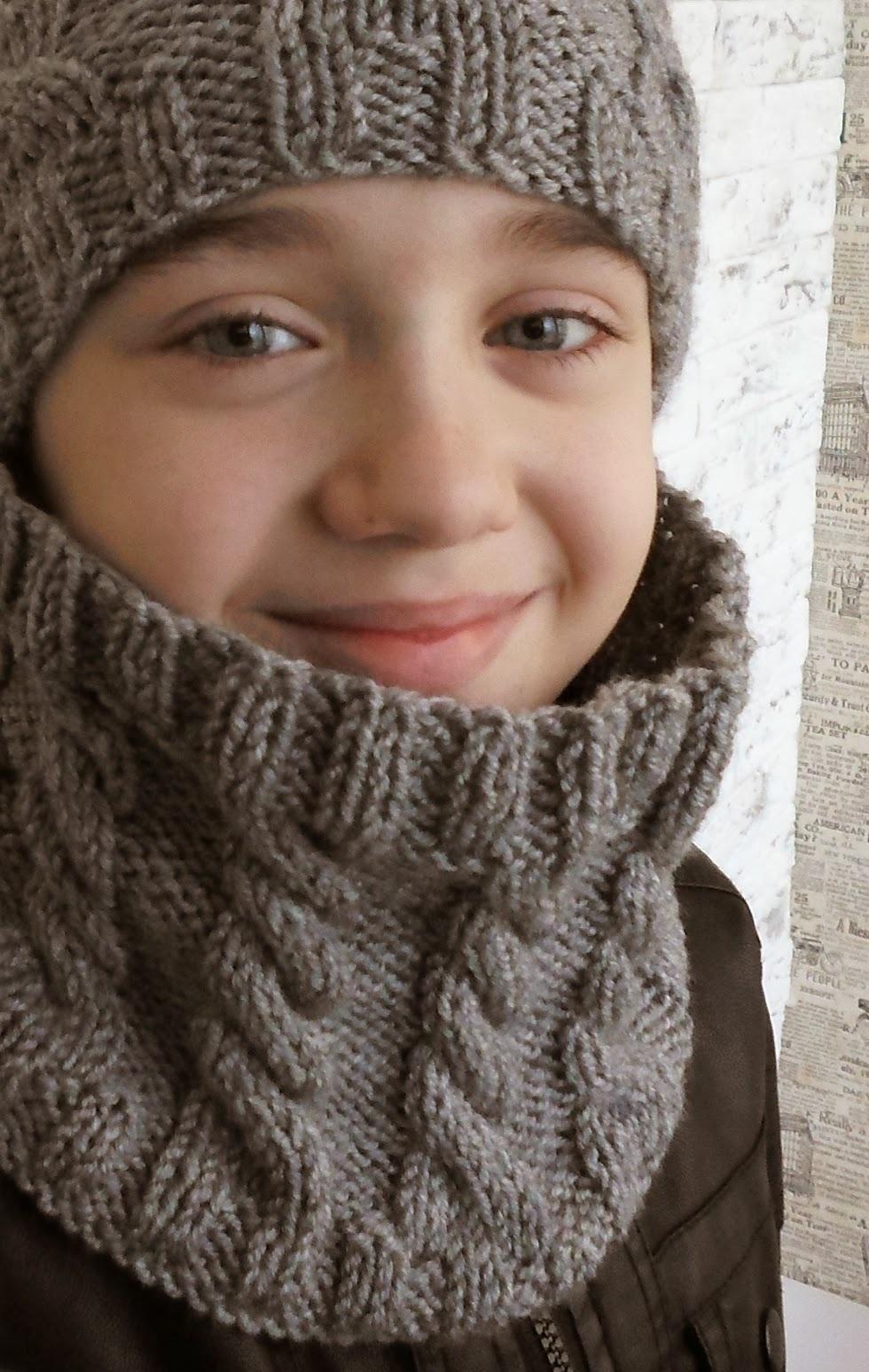 Вязание снуда для ребенка 118