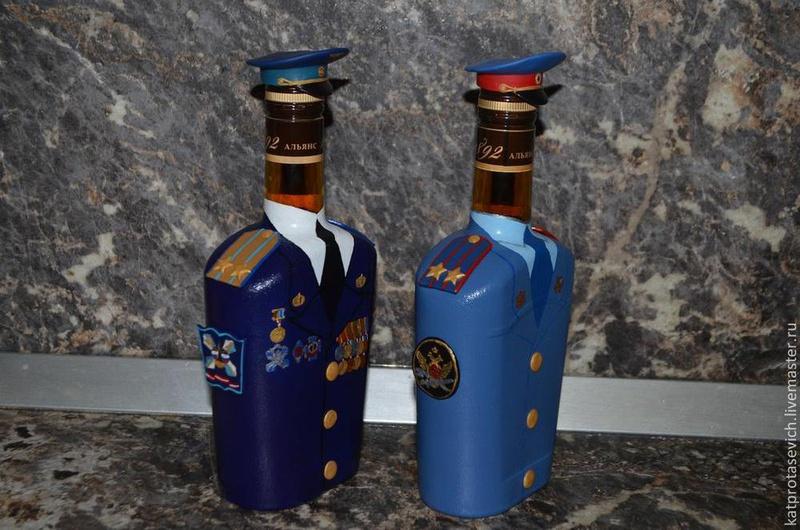 Бутылка для военного своими руками 911