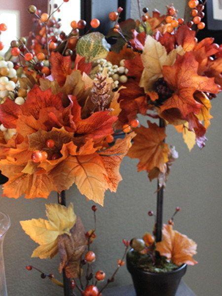 Осенние поделки из кленовых листьев в детский