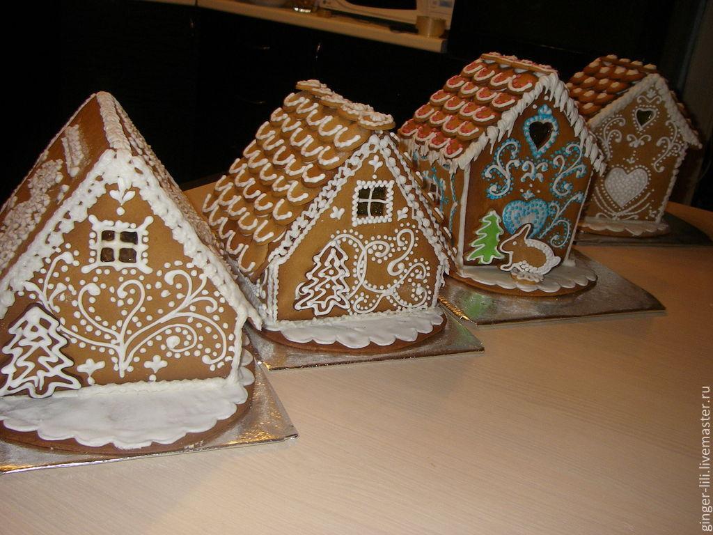 Пряничный домик из дерева своими руками 11