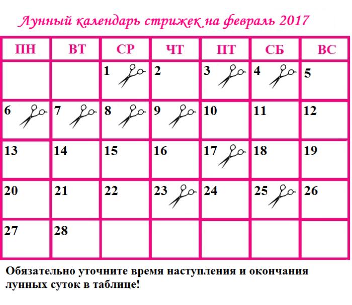 Календарь для стрижки волос для скорпиона