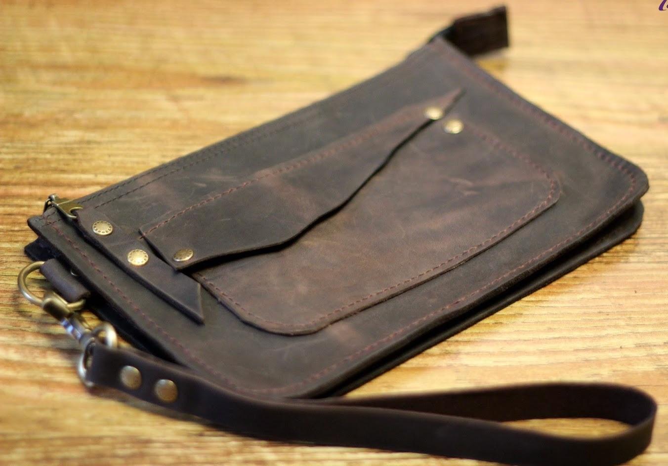 Самодельный брелок-ключница из кожи Своими руками