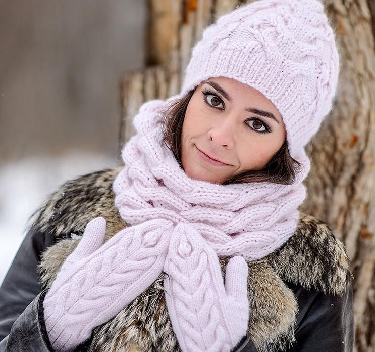 Комплект шапки шарфа вязать