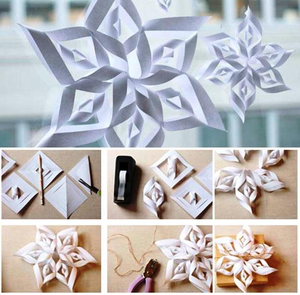 Новогодние украшения из бумаги из бумаги