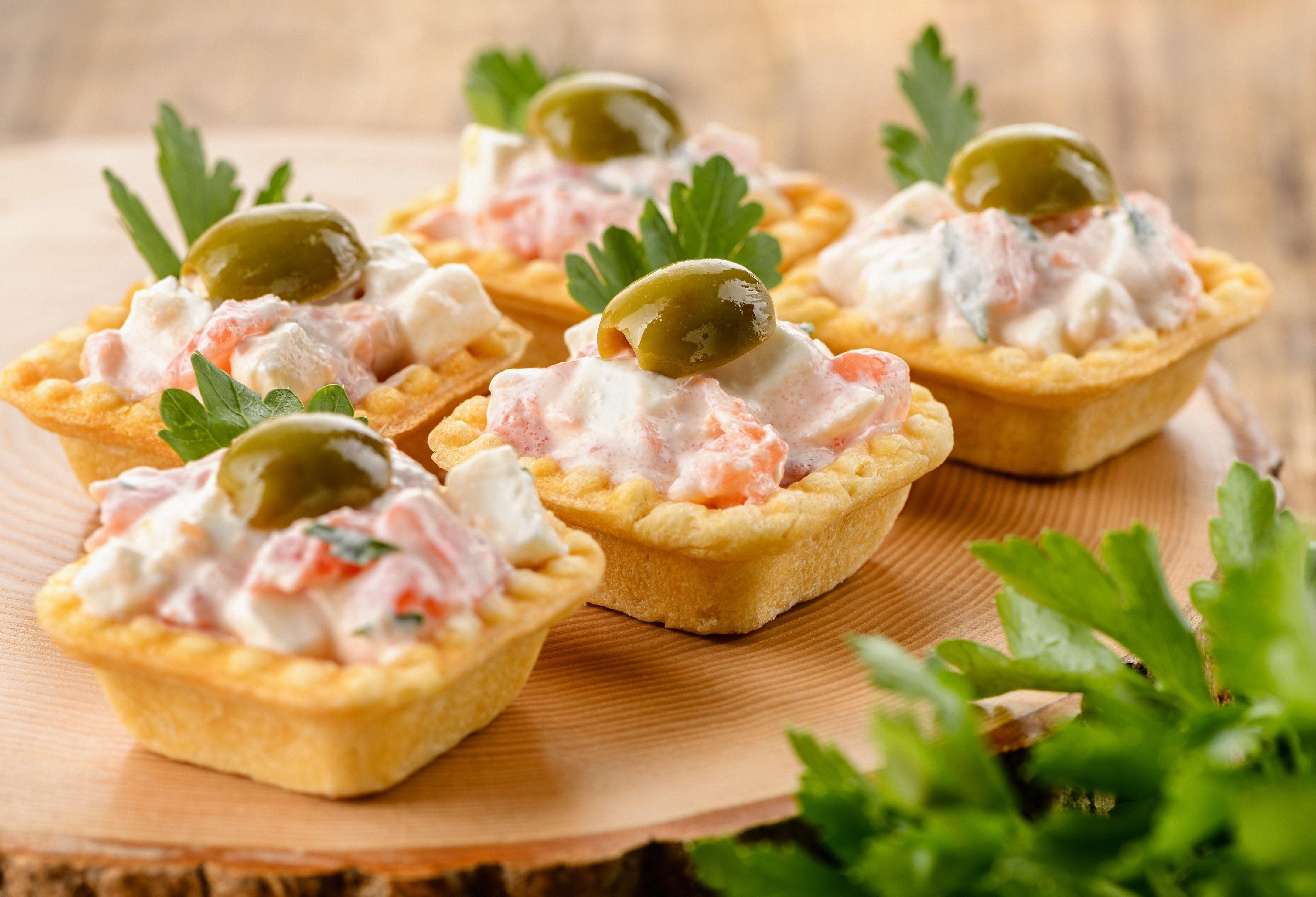 необычные рецепты салата в тарталетках