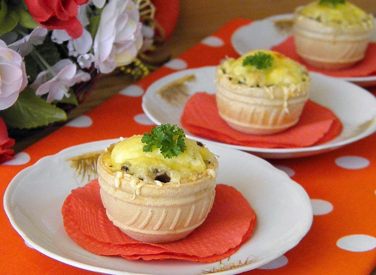 блюда в вафельных тарталетках рецепты с фото