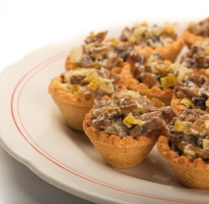 тарталетки с грибами и копченой колбасой рецепт с фото