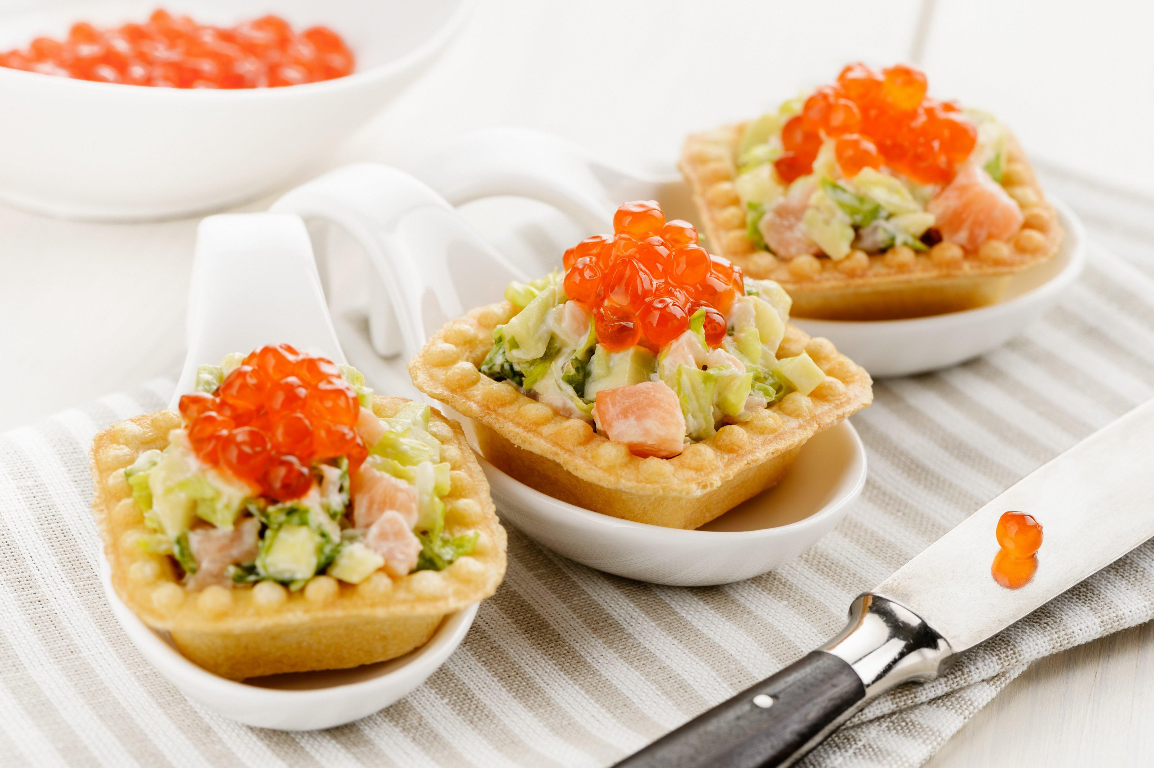 закуска из тарталетки и плавленного сыра рецепты