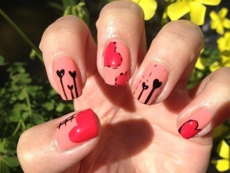 Дизайн ногтей на день святого валентина 2017