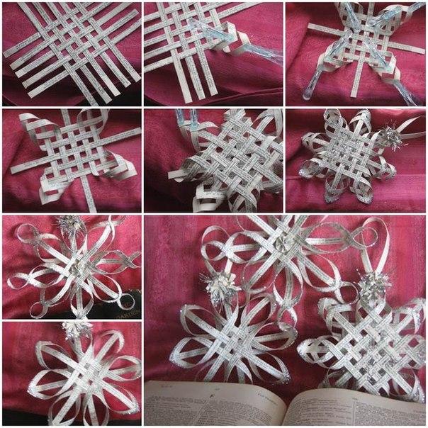 Как делать воздушные снежинки из бумаги