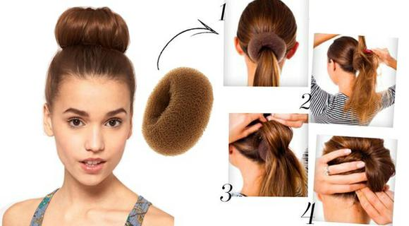 Прически для волос из валика