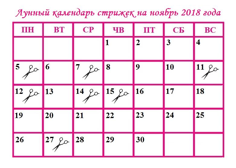 проживанием стрижка в ноябре по лунному календарю Западной