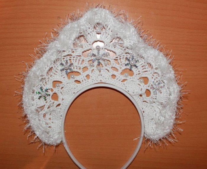 Новогодняя корона крючком