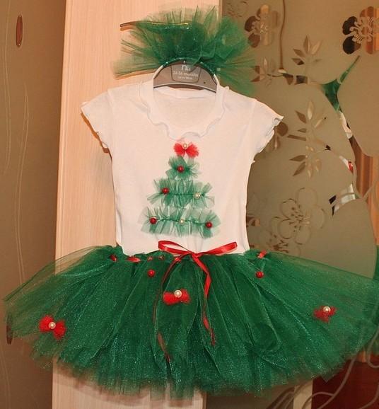 Как сшить новогодний костюм для девочек своими руками