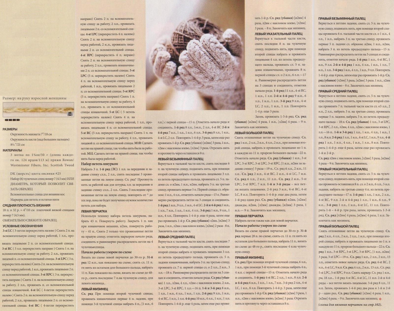 Узор для перчаток вязание спицами