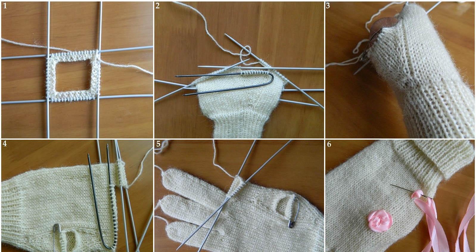 Вязание спицами для перчаток 847