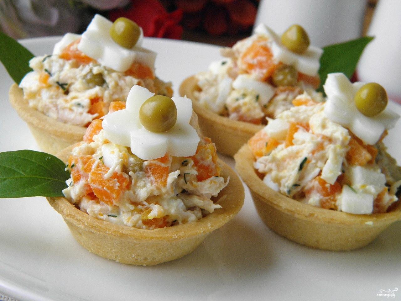 Салат в тарталетки рецепт с пошагово
