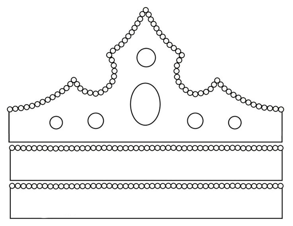Как сделать шаблон короны из картона